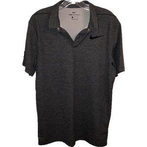 Mens Nike Aeroreact Grey Golf Polo Shirt Medium